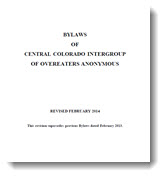 The Bylaws of the Central Colorado Intergroup of OA